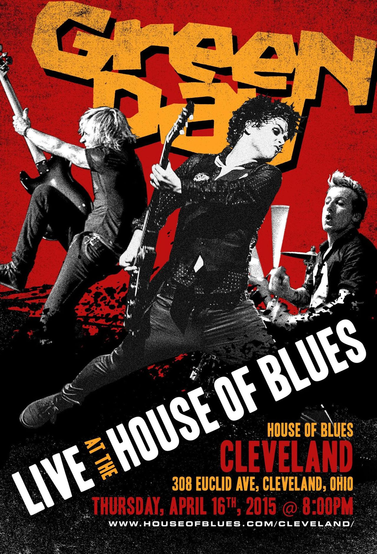 Green Day to play House of Blues in Cleveland