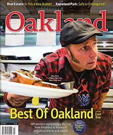 "Mike Dirnt and ""Rudy's Can't Fail Cafe"" featured on cover of Oakland Magazine"