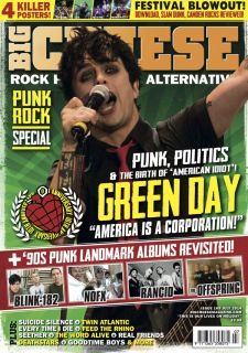 Green Day on the cover of Big Cheese Magazine